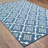 Farmhouse Homework Station 13 Blue Floral Rug